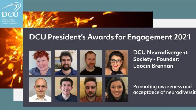 DCU President Awards - Engagement student winners