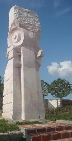 Monumento a Juventino Rosas en Batabanó. La Habana, Cuba.