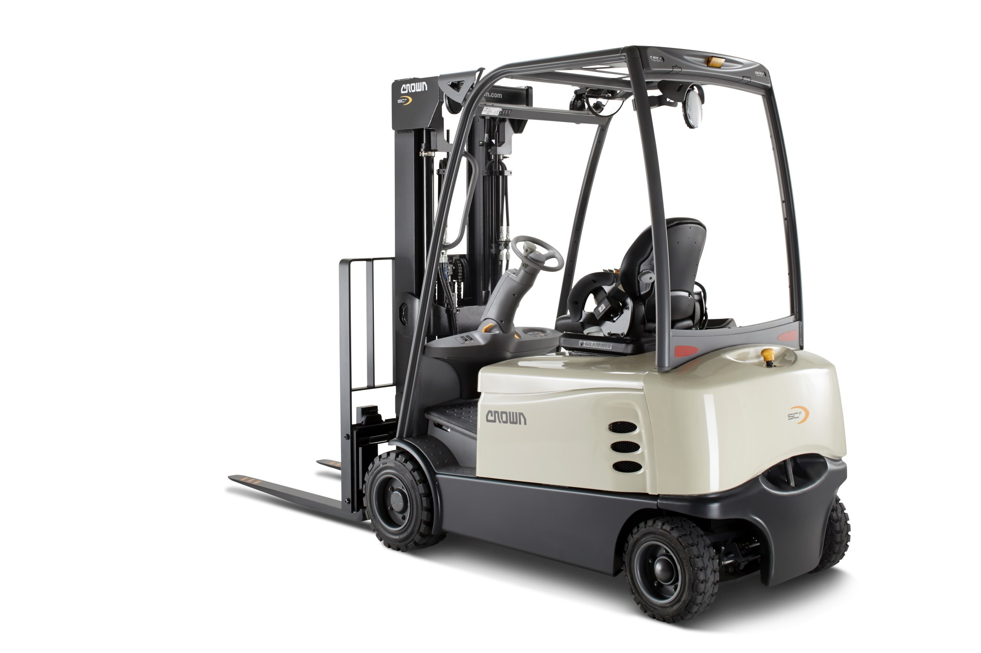 hight resolution of crown equipment extends productivity and performance gains with new four wheel sc 6000 counterbalanced forklift