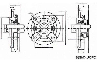 UCFC 200 series pillow block bearing, UCFC 200 series