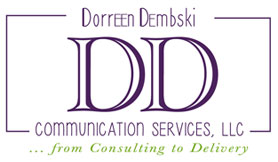 image for sidebar - Dorreen Dembski Communication Services from Consulting to Delivery logo