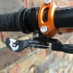 wolf tooth lever; dropper lever; dropper post lever upgrades; fox upgraded transfer lever; fox transfer post; ks seatpost; dropper post upgrades; wolf tooth components light action remote lever