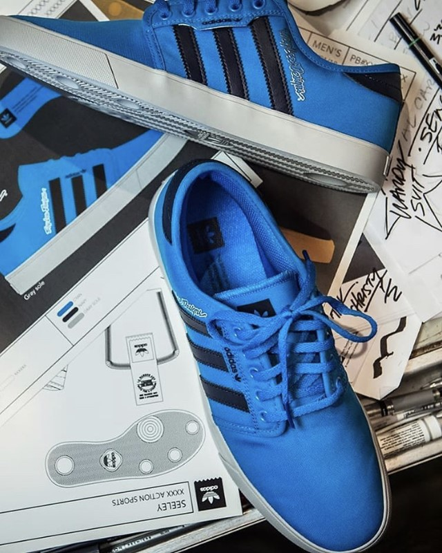 Troy Lee Designs Adidas Seeley shoes Dark Blue