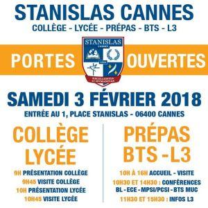 JOURNÉES PORTES OUVERTES à Stanislas Cannes ce Samedi 3 février