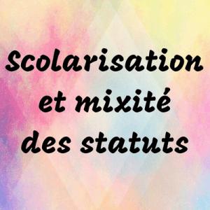 Scolarisation et mixité des statuts