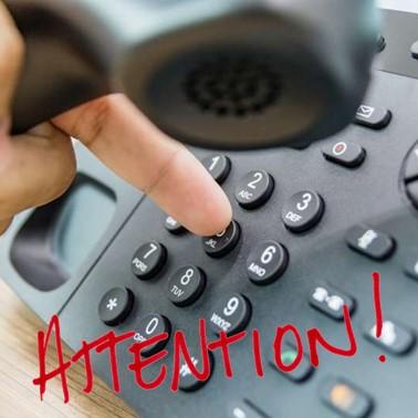 Accueil téléphonique suspendu le 11 Janvier entre 11h00 et 13h30