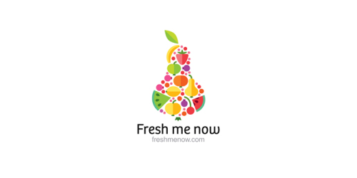 logos with fruits and