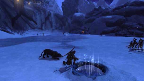 Dungeons and Dragons Neverwinter Ice Fishing for Winter Festival