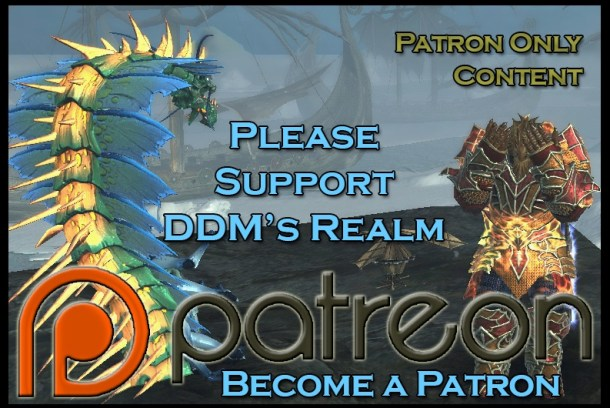 Become a Patron of DDM's Realm for as little as $1 a month!