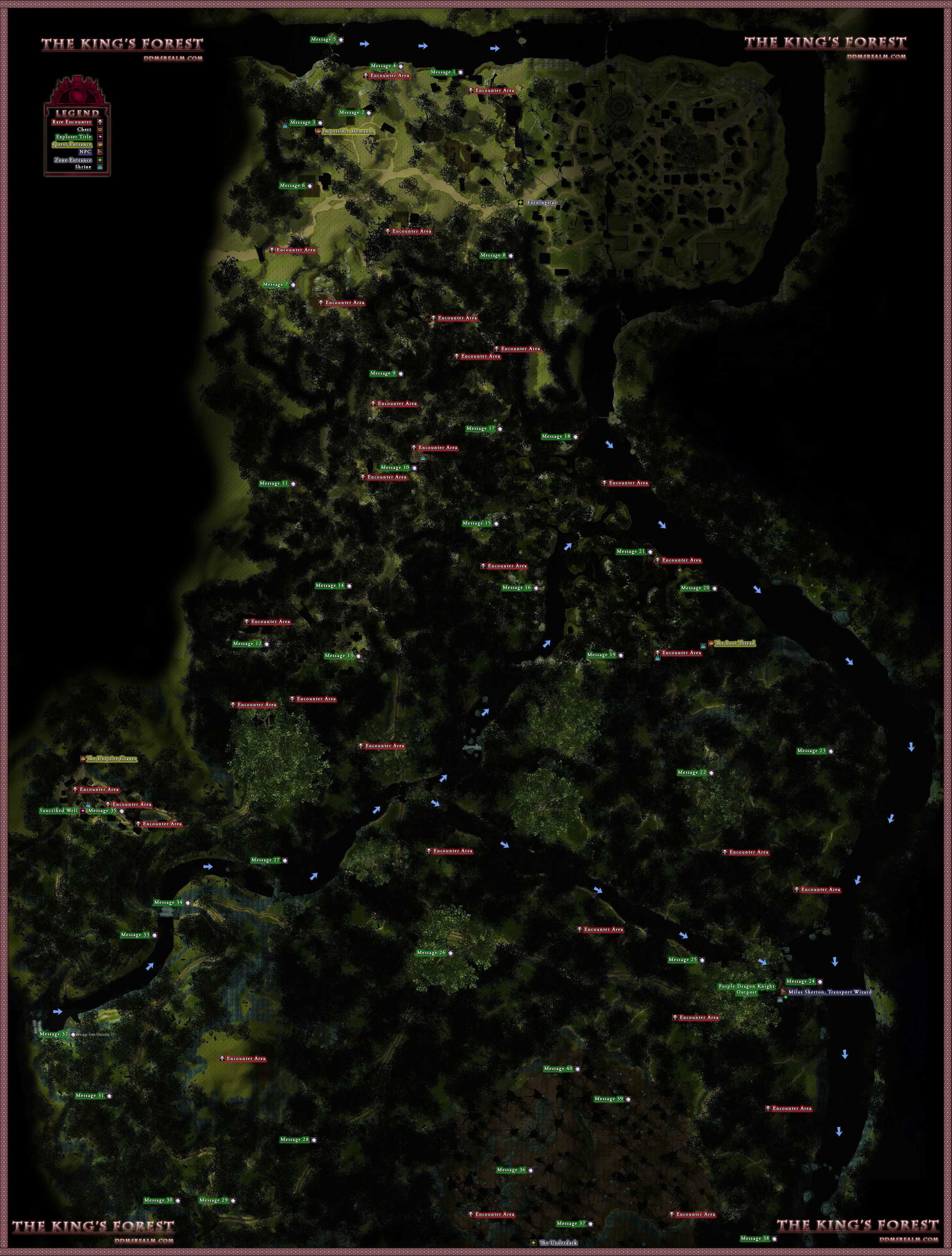 Dungeons And Dragons Forest Map Maping Resources