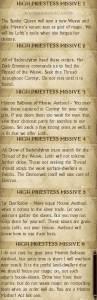Sschindylryn High Priestess Missives 1 through 6