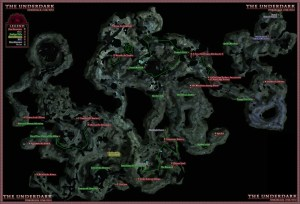 Dungeons and Dragons Online Underdark Wilderness Adventure Area Map