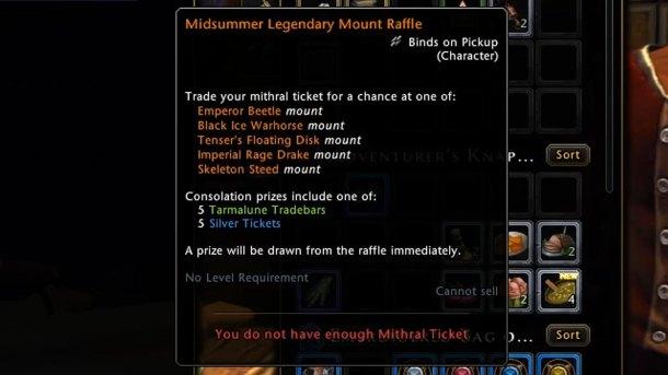 Summer Festival Legendary Mount Mithril Ticket - Sahha