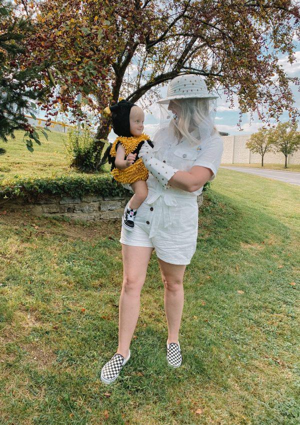 Mom & Baby Halloween Costume Idea: Bee & Beekeeper