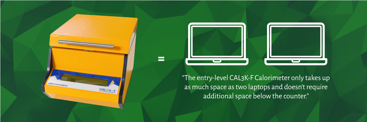 CAL3K-F Oxygen Bomb Calorimeter System - Compact Size and Weight   DDS Calorimeters