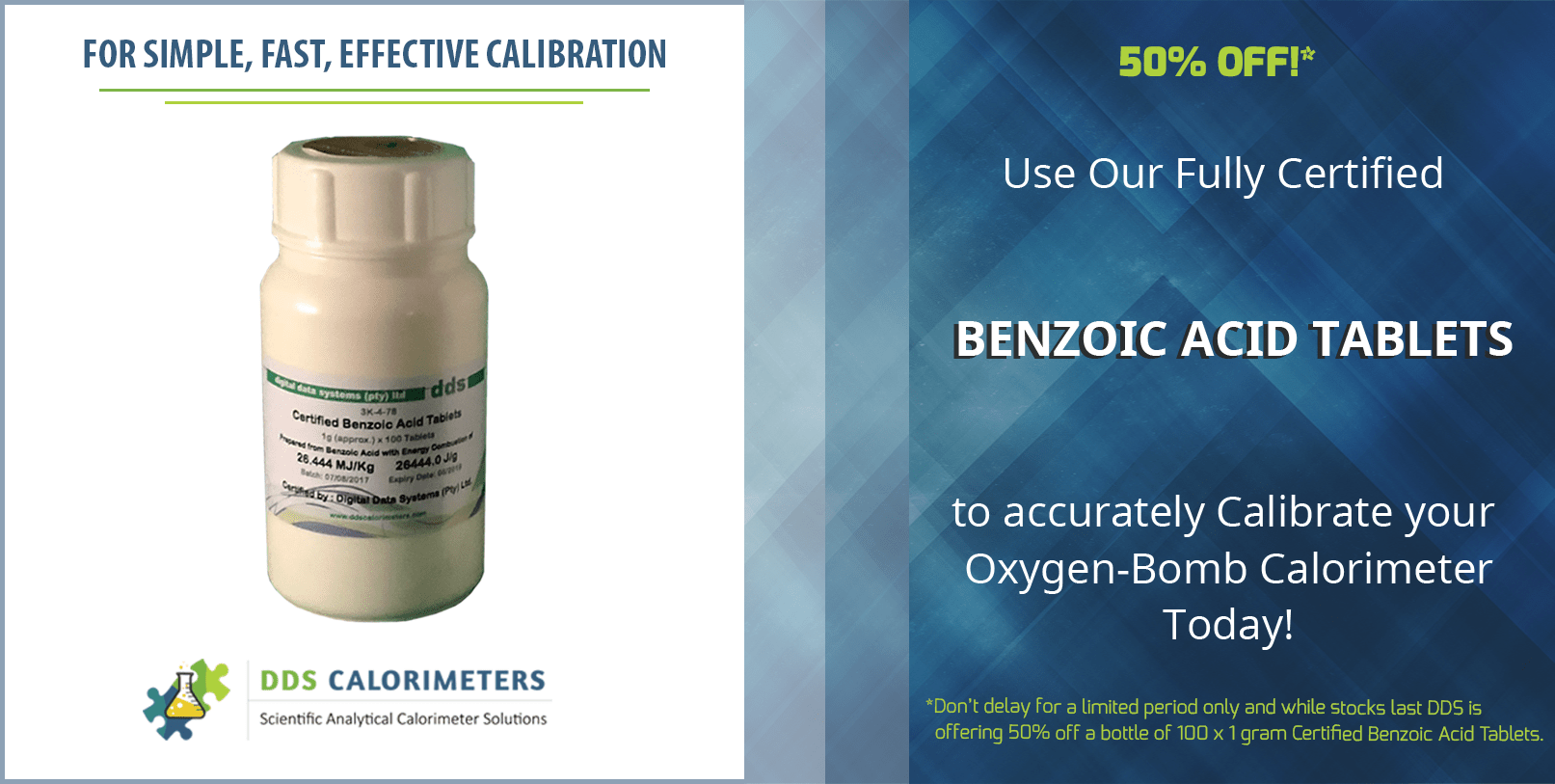 Certified Benzoic Acid Tablets - Half Price 50% Discount