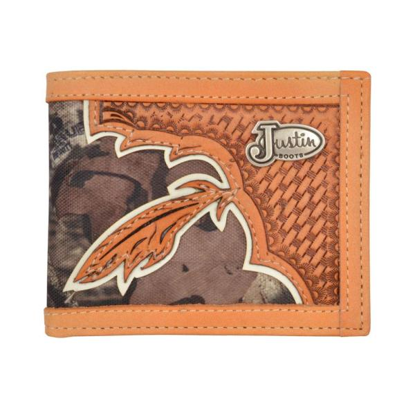 Justin Mens Camo Western Bifold Wallet & Texas Outfitters