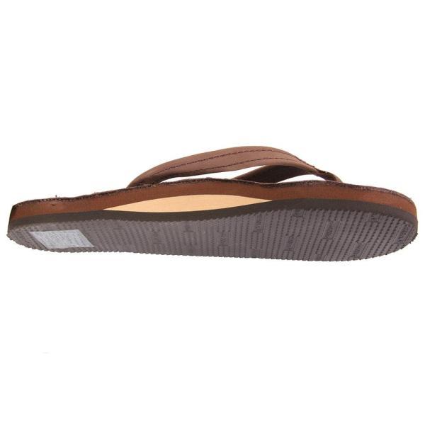 Rainbow Sandal Women' Medium Strap Single Layer Leather