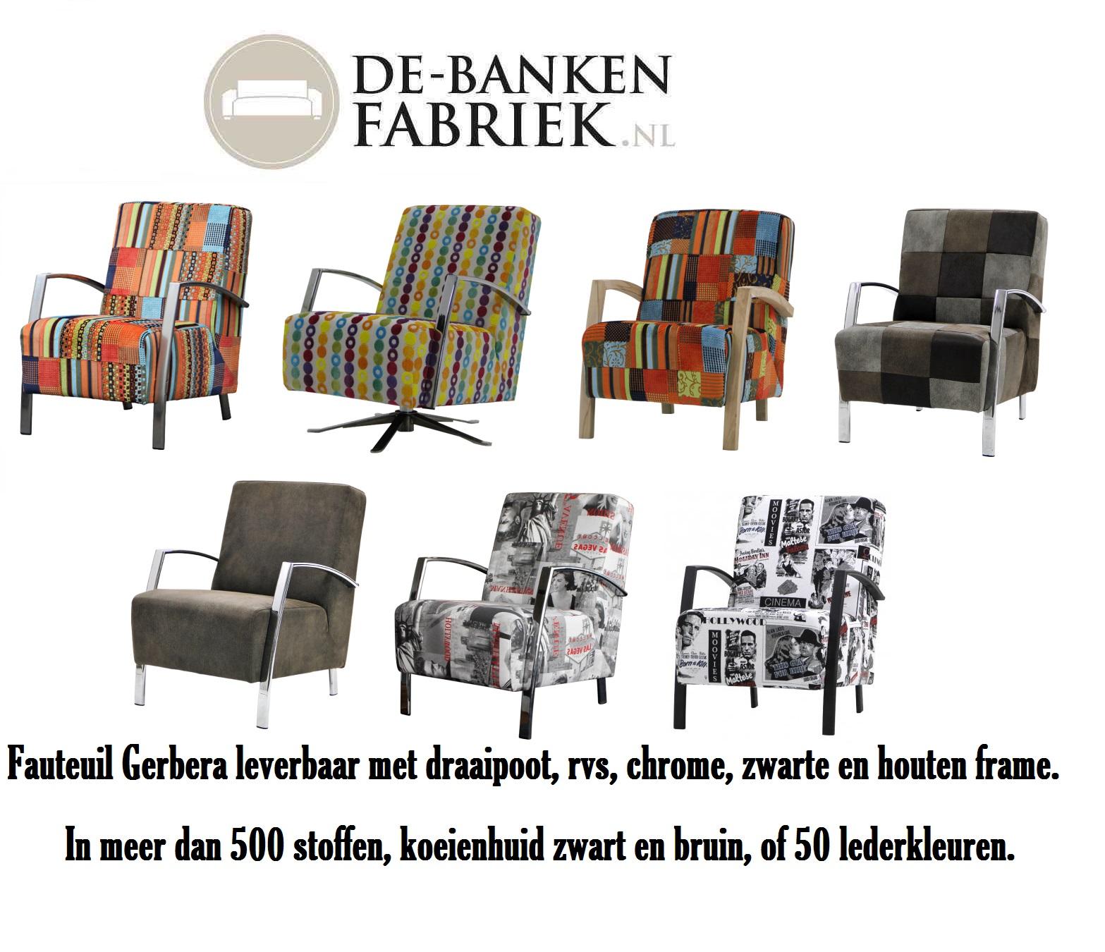 Kleurrijke fauteuils  De bankenfabriek