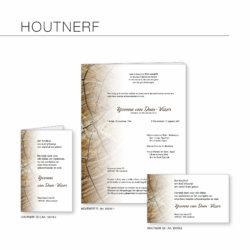 Rouwserie, Houtnerf, drukkerij