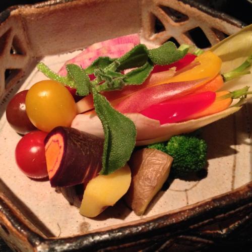500彩り野菜のバーニャカウダ