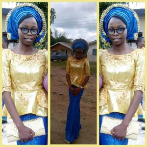 You can define this yourself right? But I call it unique! Toyosi looks great. The gele was well tied. The clutch, the matching blouse, then the blue!!...thumbs up love