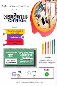 The Christian Storytellers Conference 1.0 #De-Raconteur #Christiancourse #Christianwritingcourse #Writingcoursesinnigeria #Storytellersconference #Storytellers