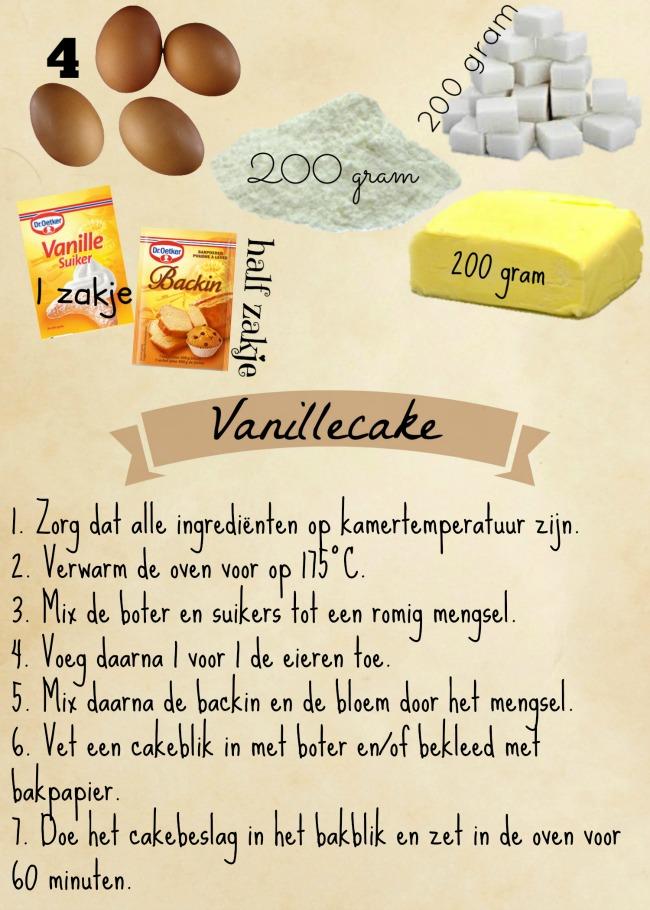 Vanillecake recept