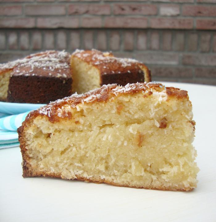 kokoscake met honing