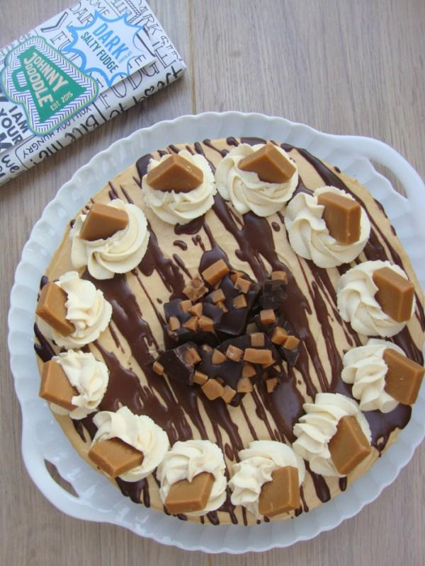 Caramel Fudge Brownie taart