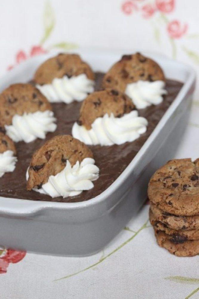 chocoladepudding met slagroom