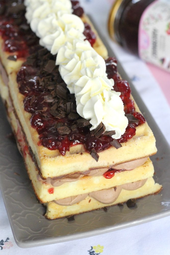 cranberry chocolade wafeltaart
