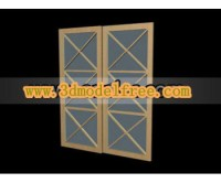 Die Box Holz Glasschiebetr 3D-Modelle 3D Model Download ...