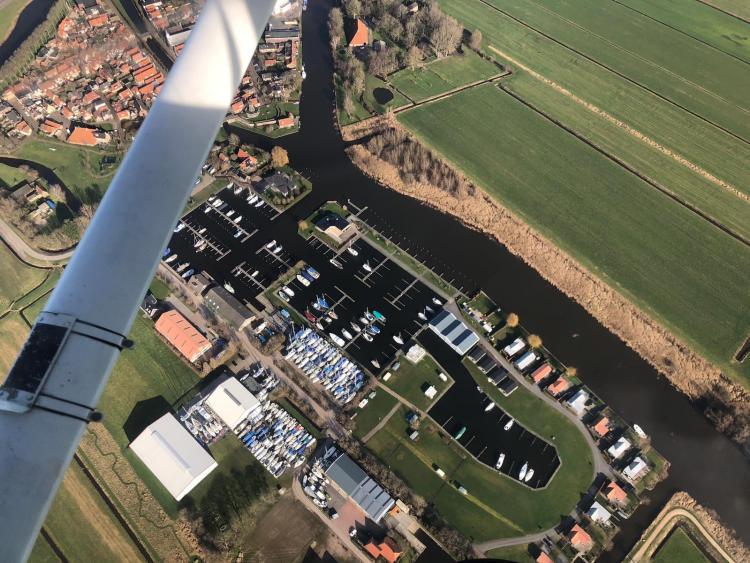 Luftbild Yachthafen De Lemsterpoort Januar 2019