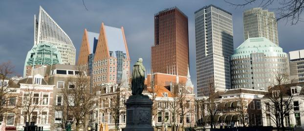 vrijheid blijheid op Het Plein in Den Haag