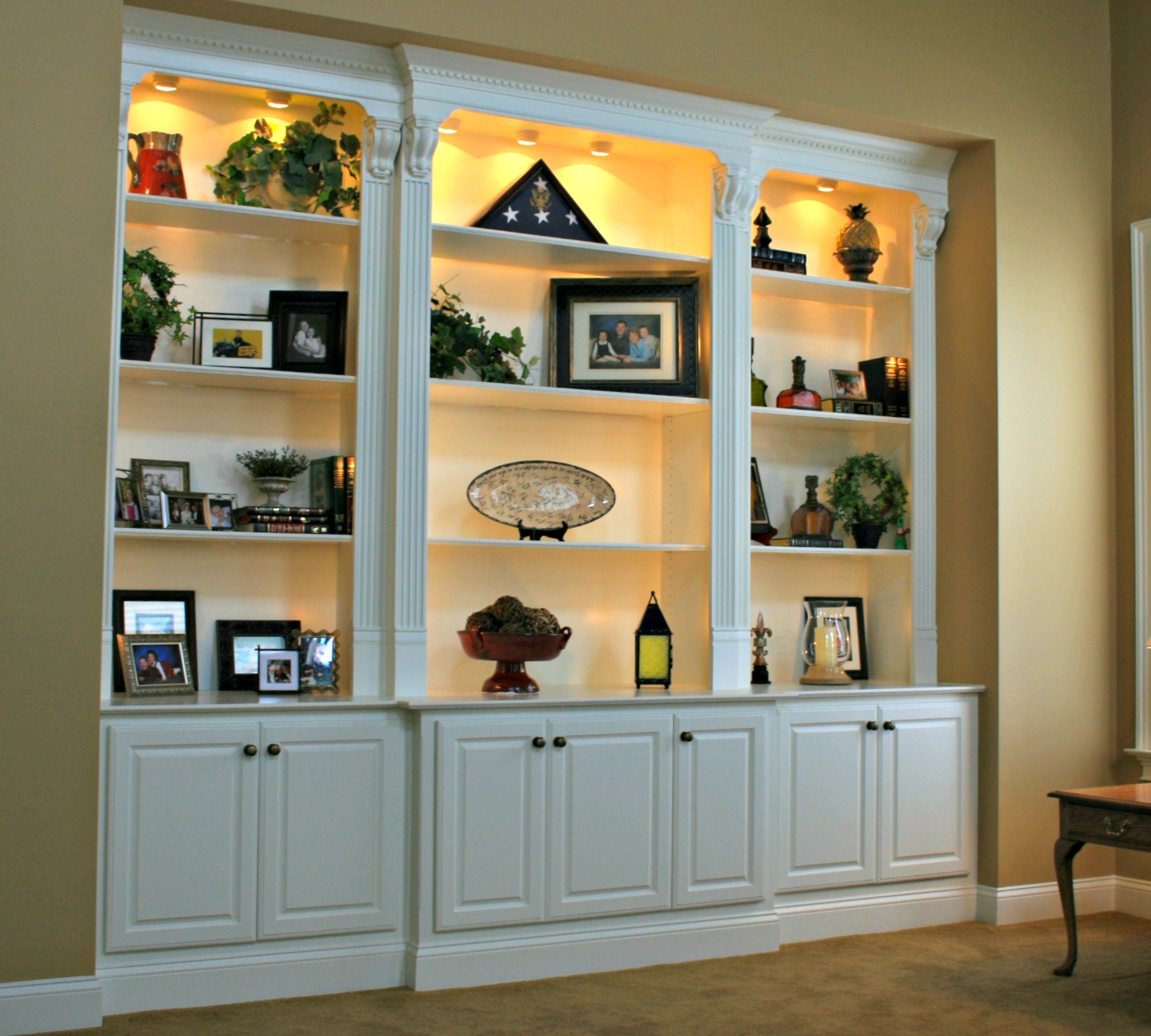 Display Cabinets are designed and built by Deacon Home