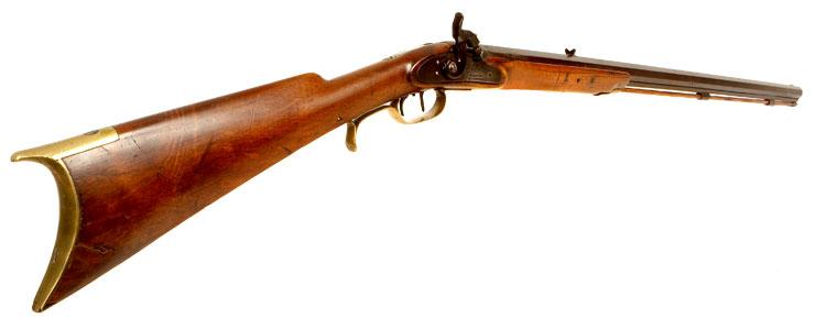 Rare US Made Leman Lancaster Muzzle Loading Rifle