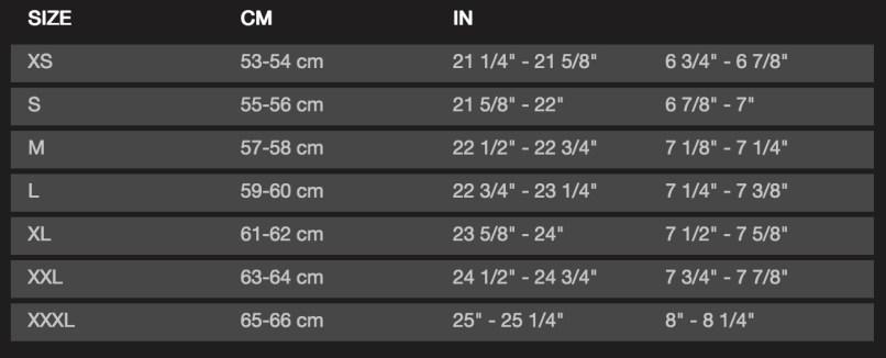 Bell Motorcycle Helmet Size Chart Jidimotor Co