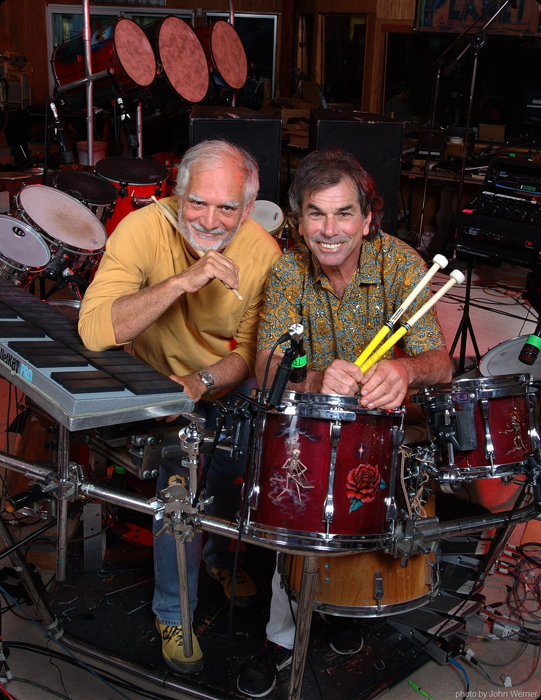Bill Kreautzmann and Mickey Hart - photo by John Werner