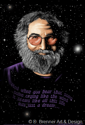 Jerry Garcia by D. Brenner - available at Stealicon.com