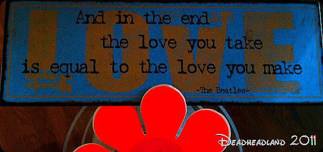 And in the end, the love you take,is equal to the love you make.