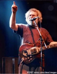 """Jerry Garcia, March 24, 1987, Hampton, VA, """"Not Fade Away"""" © Robbi Cohn Dead Images"""