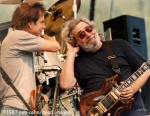 ©Robbi Cohn Dead Images | Grateful Dead Jerry Garcia and Bob Weir | August 15 1987 Telluride, CO