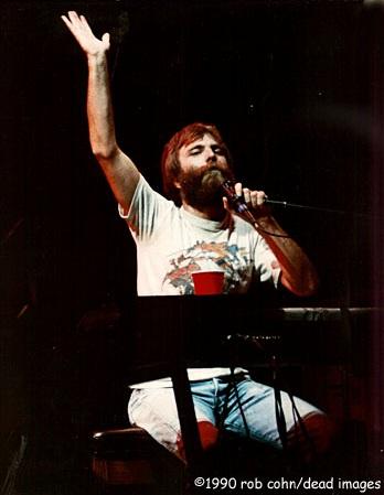 ©Robbi Cohn, Dead Images  | Grateful Dead, Brent Mydland | October 15, 1988, St. Petersberg Florida | Blow Away