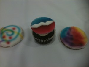 Grateful Cupcakes and Tie-Dye cookies at the Grateful Dead Archive preview event
