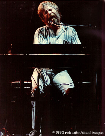 """Brent Mydland, June 15, 1990, Mountain View, CA, """"Blow Away"""" ©Robbi Cohn Dead Images brentmydland9428__48354_zoom"""