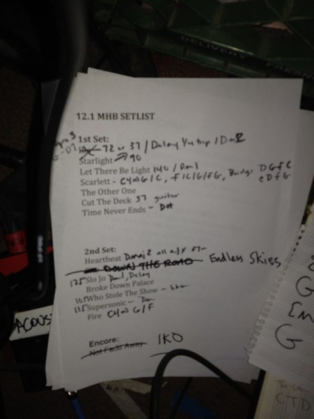 Mickey Hart Band Setlist 12.1.2011 Seattle - Tractor Tavern photo by @wajiii