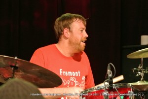 Joe Russo - Bustle In Your Hedgerow 2012-01-27 - Brooklyn Bowl | Photo by Timezoner for Deadheadland