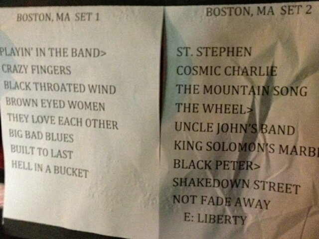 Furthur Spring Tour 2012, April 5 Wang Theatre Boston Setlist