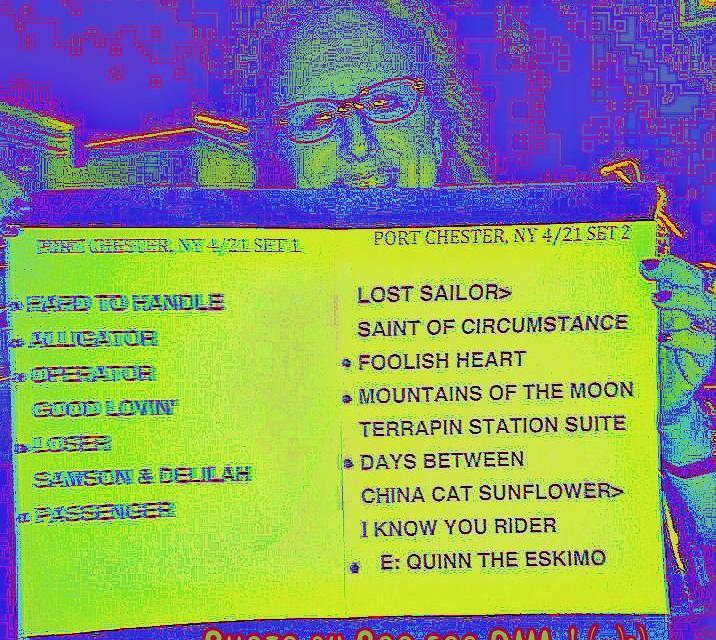 Setlist, Furthur, Sunday April 21 2013, The Capital Theatre, Port Chester, NY